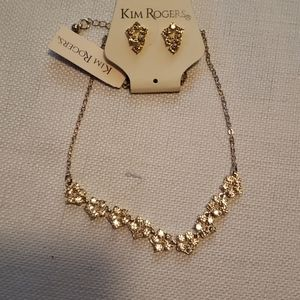 Kim Rogers Rhinestone Necklace and Earrings